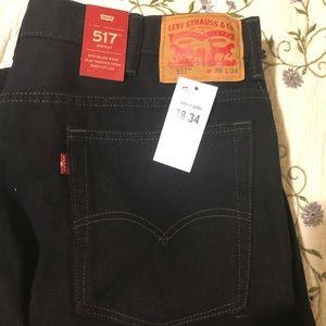 Levi black boot cut jeans men's